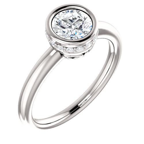 Diamond Bezel Engagement Ring