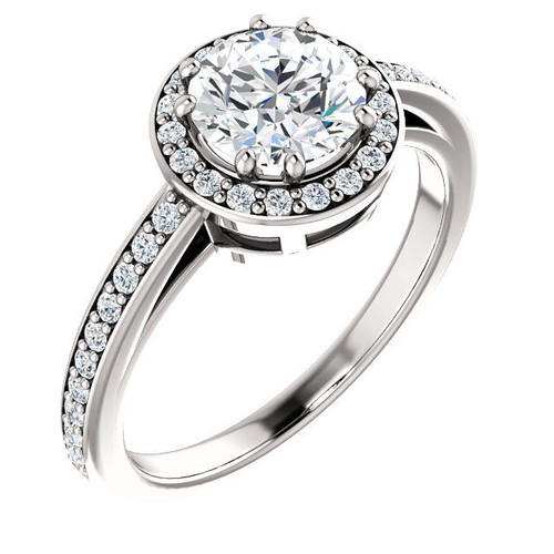 Round Halo Diamond Engagement Ring | PJ656