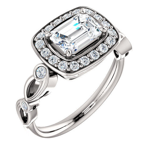 0.34 Ct Tw Halo Engagement Ring