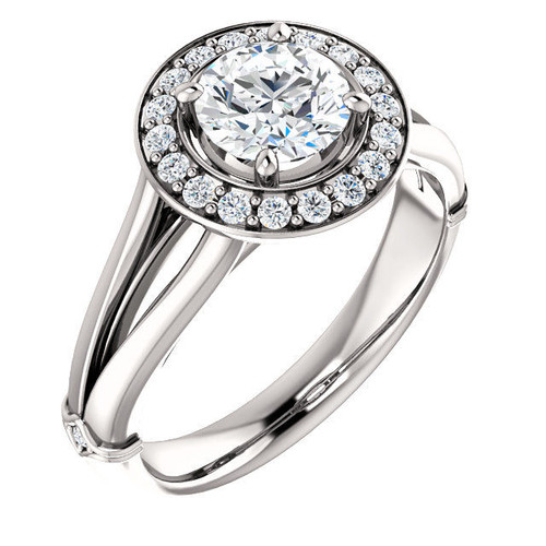 0.19 Ct Tw Diamond Halo Engagement Ring