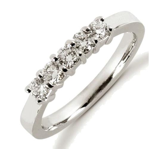 0.50 Ct Tw 5-Stone Diamond Anniversary Ring