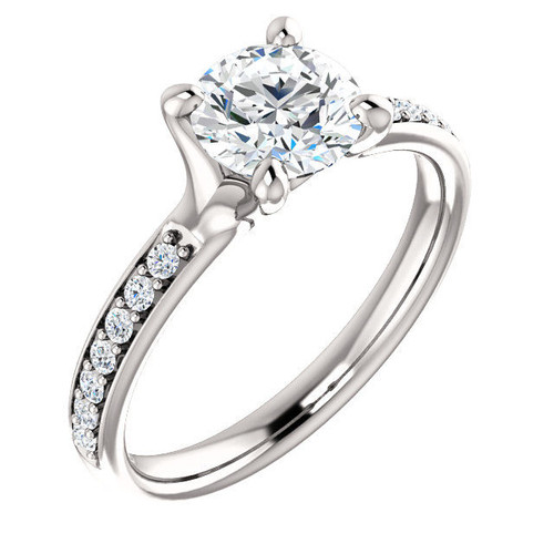 0.14 Ct Tw Diamond Accent Engagement Ring
