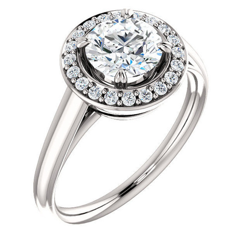 0.45 Ct Tw Diamond Halo Engagement Ring
