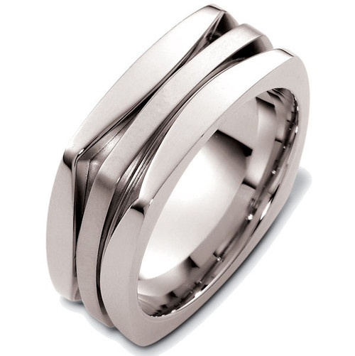 Square Contemporary Wedding Ring