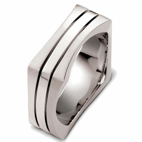 Square 8.5 MM Wide Wedding Ring