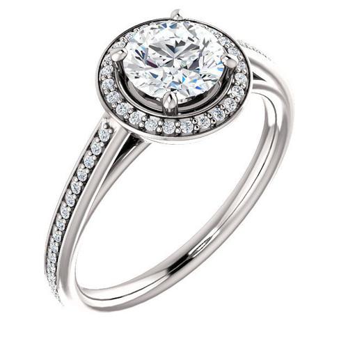 Round Halo Diamond Engagement Ring