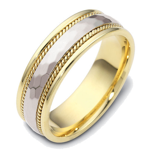 Hammered Classic Wedding Ring