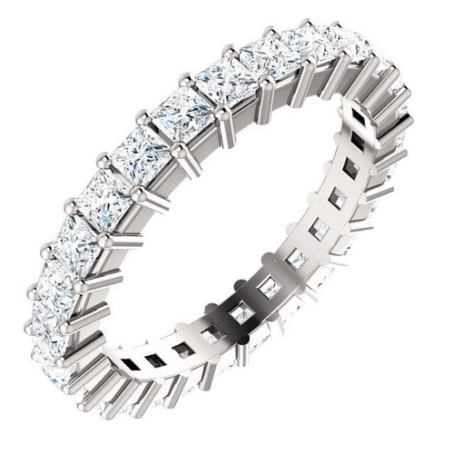 1.89 CT TW Princess Cut Diamond Eternity Ring