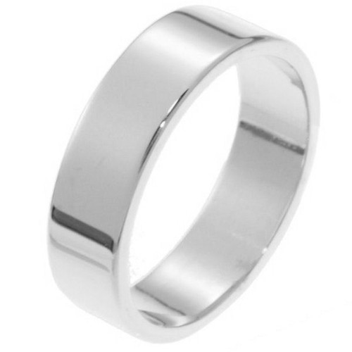 6.0 mm Flat Inside Comfort Fit Wedding Band