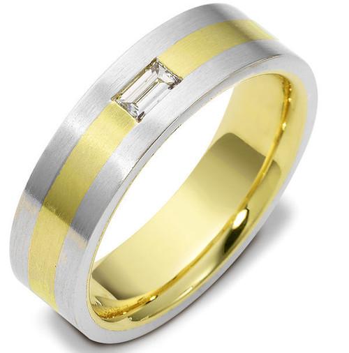 0.20 CT Straight Baguette Diamond Wedding Ring