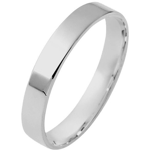 4.0 mm Flat Inside Comfort Fit Wedding Ring
