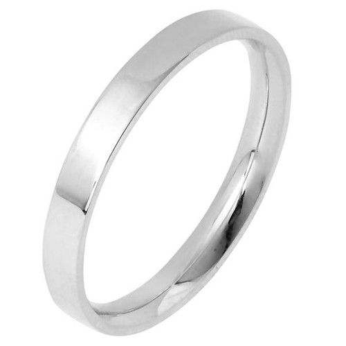 3.0 mm Wide Flat Inside Comfort Fit Wedding Band