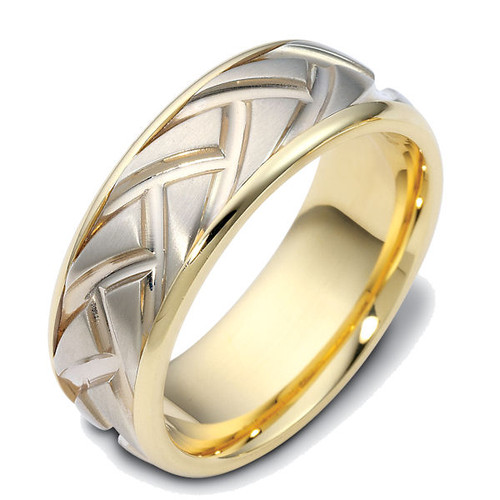 8.0 MM Carved Wedding Ring