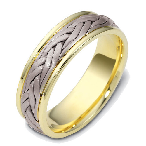 Two Braid Hand Crafted Wedding Ring