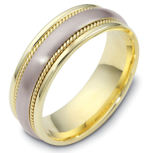 Classic Wedding Band with Ropes