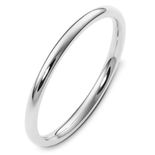 2.0 mm Wide Comfort Fit Plain Wedding Band