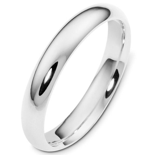 4.0 mm Wide Plain Comfort Fit Wedding Ring