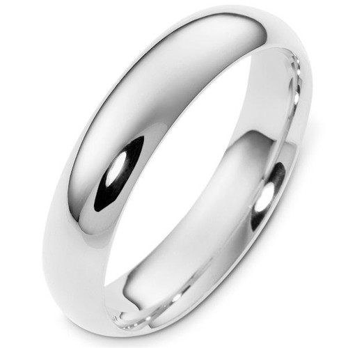 5.0 mm Wide Plain Comfort Fit Wedding Ring