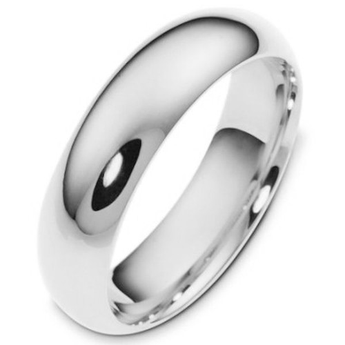 6.0 mm Wide Plain Comfort Fit Wedding Band