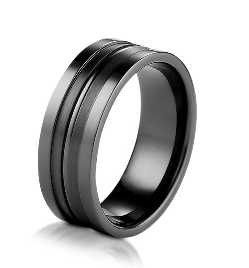 Black Titanium 8.0MM Wedding Ring