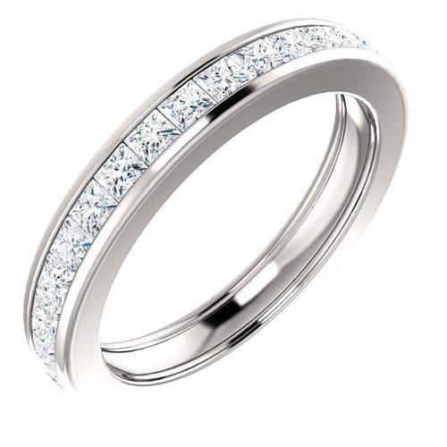2.0 Ct Tw Princess Cut Channel Set Diamond Eternity Ring