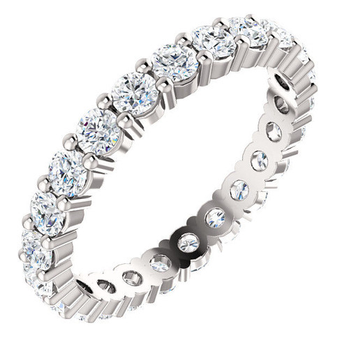 1.38 CT TW Classic Round Diamond Eternity Ring