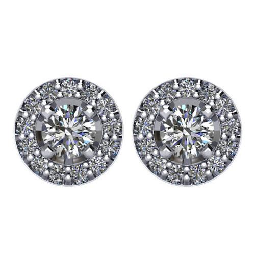 Halo, 3/8 CT TW Diamond Stud Earrings