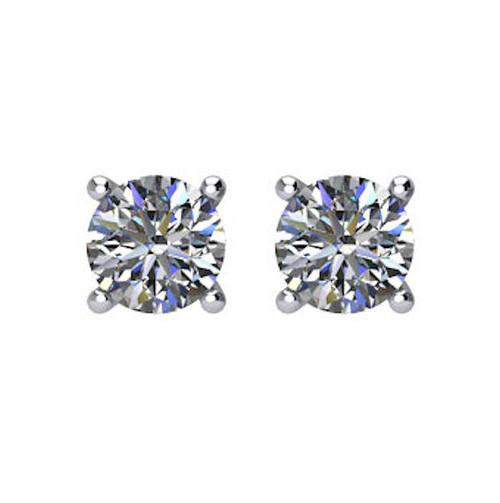 1/3 CT TW Round Diamond Stud Earrings