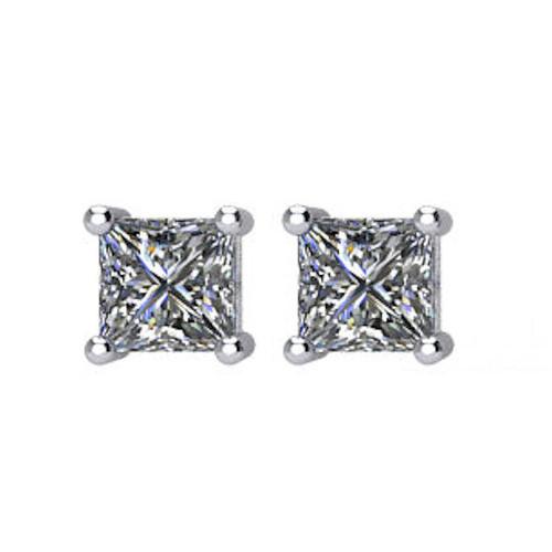 1/3 CT TW Princess Cut Diamond Stud Earrings