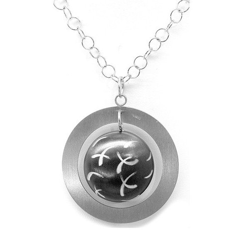 Frederic Duclos Silver with Ruthenium Pendant