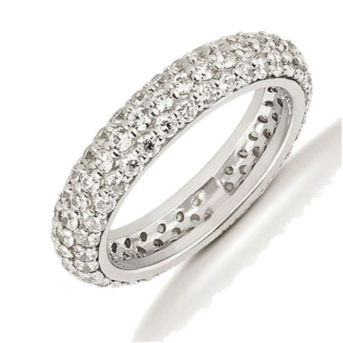 Platinum 3 Row 1.70 ct tw Diamond Eternity Ring