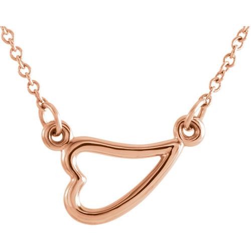 Sideway Heart Necklace