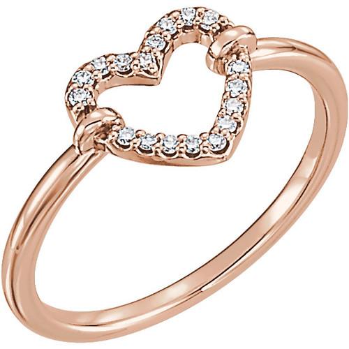 Petite Diamond Heart Ring