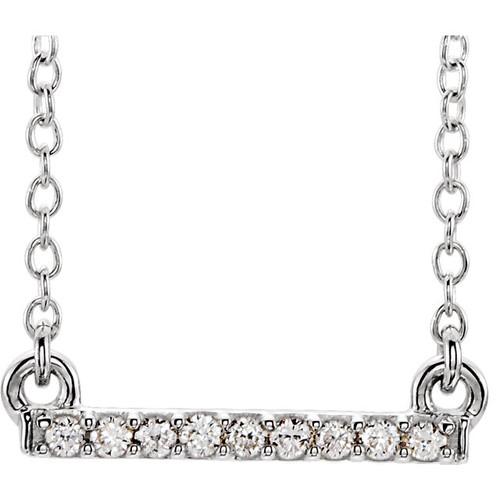 Petite Diamond Bar Necklace