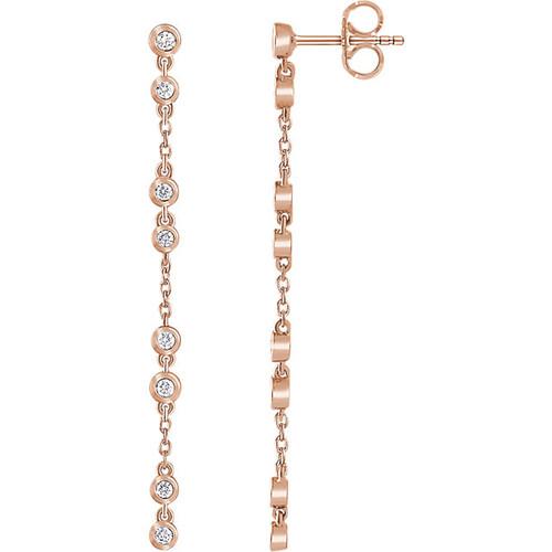 Dangle Diamond Chain Earrings
