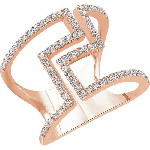 0.50 Ct Tw Diamond Geometric Ring