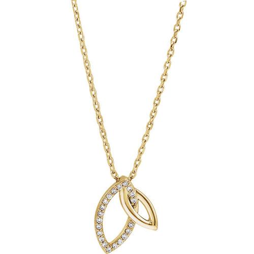 Double Leaf Diamond Necklace