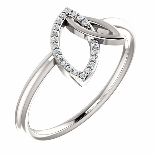 Double Leaf Diamond Ring