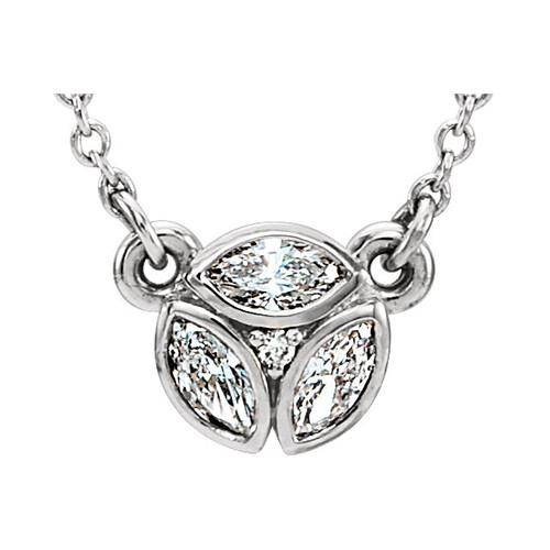 Marquise Petite Diamond Necklace