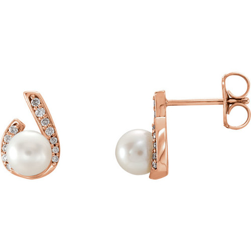 Diamond & Pearl Earrings