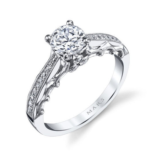 Vintage 0.14 Ct Tw Diamond Engagement Ring