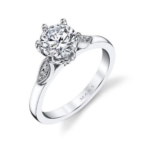 0.10 Ct Tw Diamond Engagement Ring