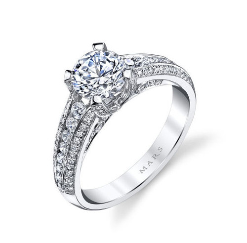 0.59 Ct Tw Diamond Engagement Ring
