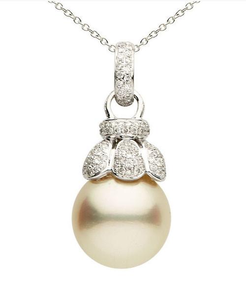 South Sea Cultured Pearl & 0.60 Ct Tw Diamond Pendant
