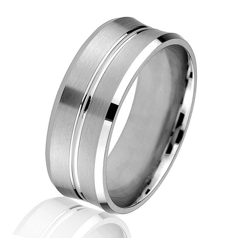 Concave Wedding Ring