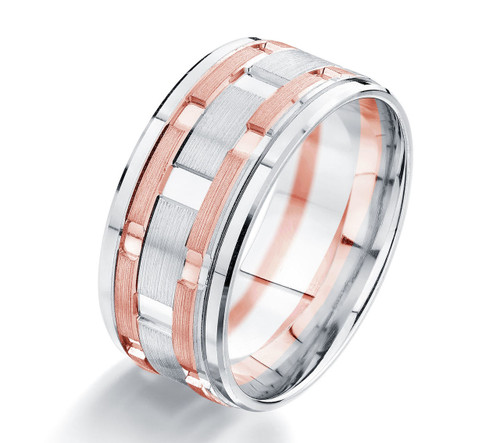 Rose & White Gold Wedding Ring