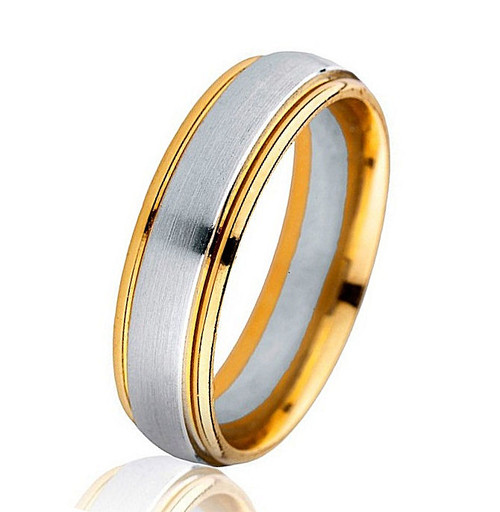 Classic Two-Tone Comfort Fit Wedding Ring