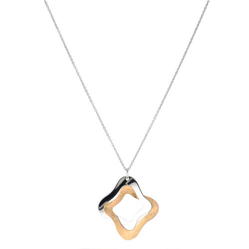 Sterling Silver Gold Overlay Yvonne Necklace