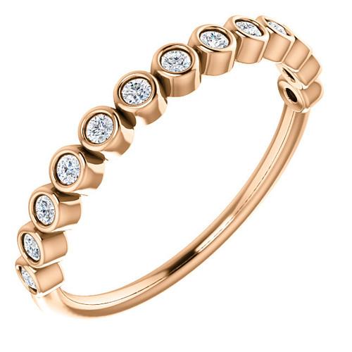 Bezel Diamond Anniversary Ring