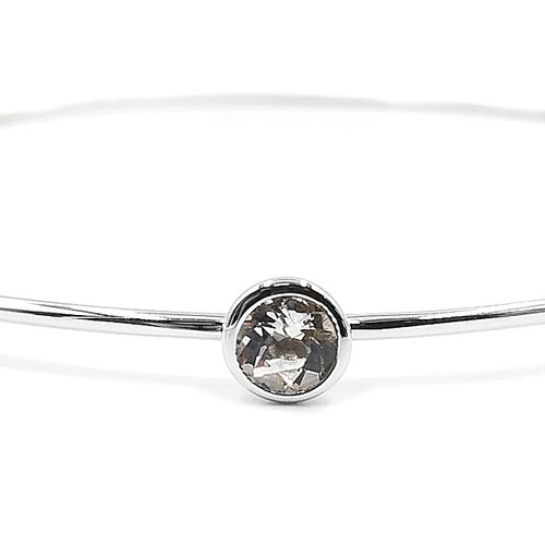 Genuine White Topaz Bangle